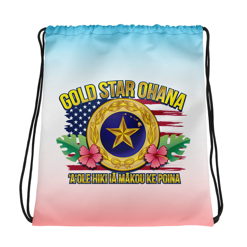 Gold Star Ohana - Drawstring bag