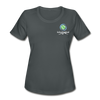 Na Pua O Kaneohe - Tennis - Women's Moisture Wicking Performance T-Shirt - charcoal