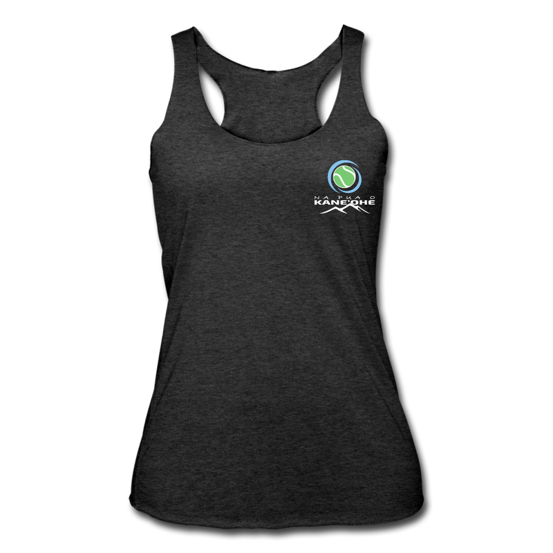 Na Pua O Kaneohe - Tennis - Women's Tri-Blend Racerback Tank - heather black