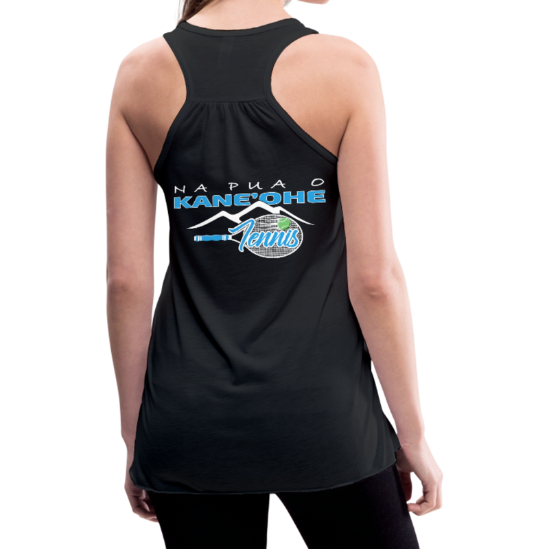 Na Pua O Kaneohe - Tennis - Women's Flowy Tank Top - black