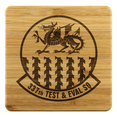 337th Test and Evaluation Squadron - BAMBOO COASTERS (SET OF 4)