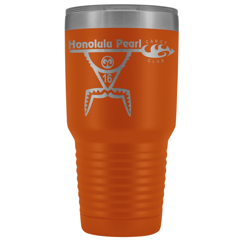 Honolulu Pearl Canoe Club - 30oz Laser Etched Vacuum Tumbler
