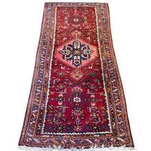 "Load image into Gallery viewer, R75: Vintage Handmade Wool Area Rug Most Likely from a Tribal Region 3'4"" x 7'2"""