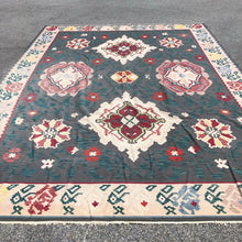"Load image into Gallery viewer, R53: Gray Toned Kilim Rug 10'5"" x 13'9"""