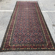 "Load image into Gallery viewer, R30: Antique Oriental Wide Runner Possibly a Hamadan 4'8"" x 11'4"""