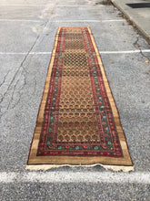 "Load image into Gallery viewer, R67: Antique Serab Runner with Rare Tan Field 3'4"" x 15'7"""