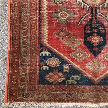 "Load image into Gallery viewer, R23: Antique Oriental Runner with Nice Even Wear 3'3""x 6'9"""