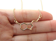 Load image into Gallery viewer, Serotonin Molecule Necklace
