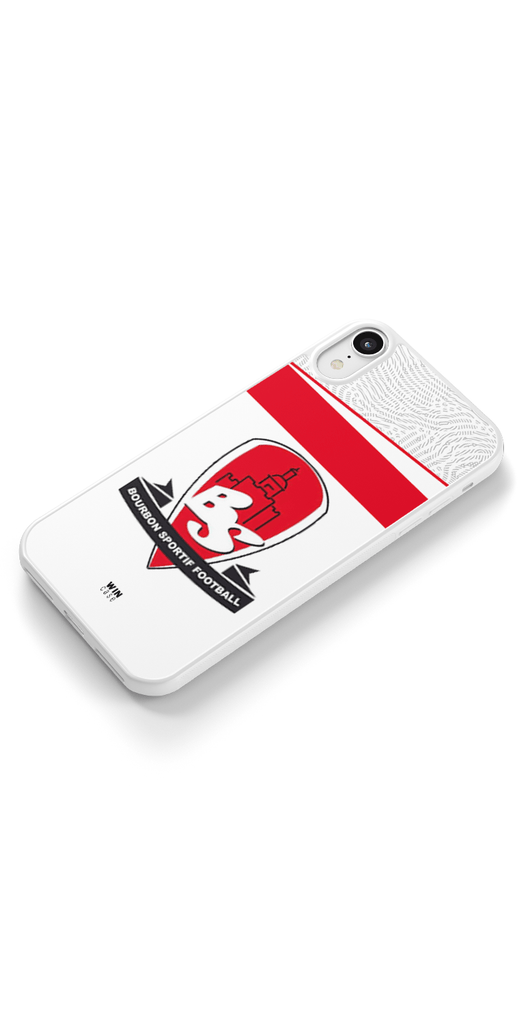 BOURBON SPORTIF FOOTBALL BLANC - LOGO - WIN CASE
