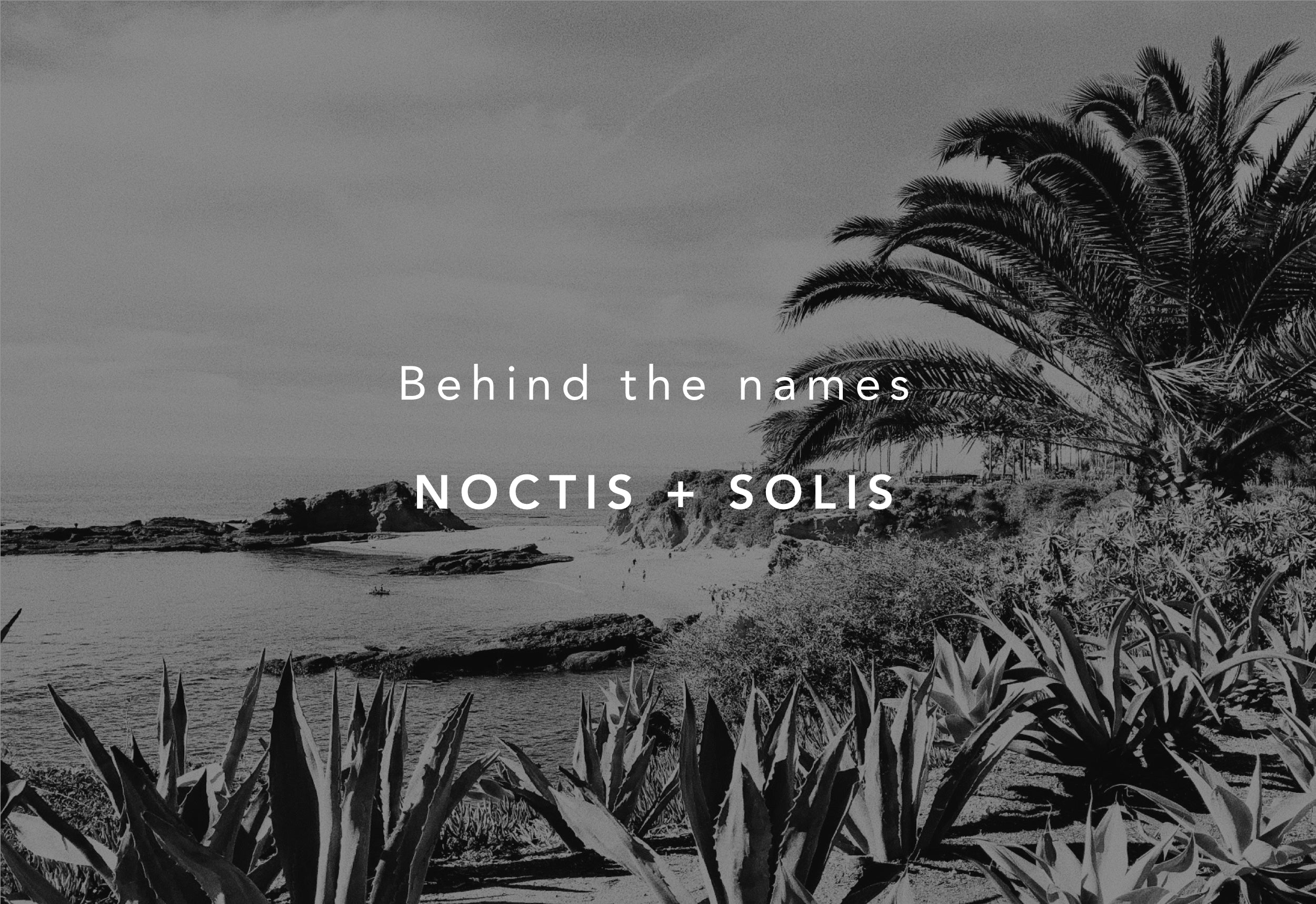 Behind the names Noctis and Solis