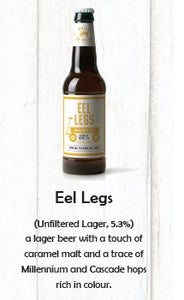 Brick By Brick Eel Legs Lager 330ml LOOSE