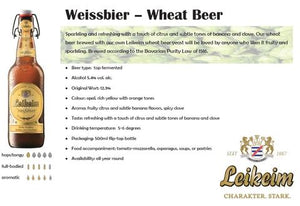 Leikeim Weisbier (Wheat Beer) 500ml-Ctn of 20 Btls