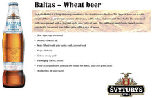 Load image into Gallery viewer, Svyturys Baltas Wheat Beer 500ml LOOSE