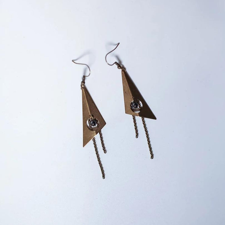 Modernist Geometry Statement Earrings