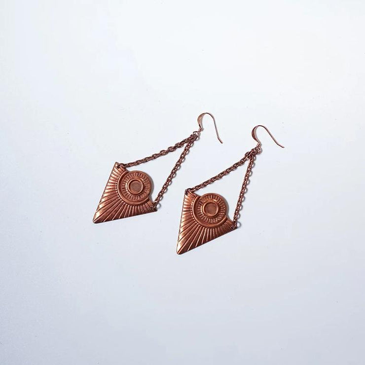 Deco Chandelier Copper Statement Earring