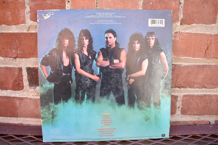 Queensryche; the warning, 1984 1st pressing lp record classic rock, 80's music