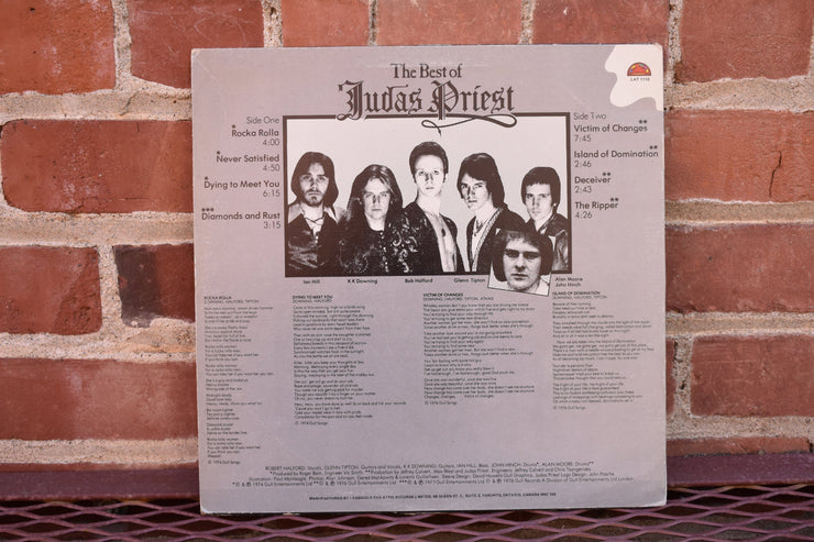 Judas Priest, Best of, 1978 Vintage vinyl Lp, full album vintage record, Classic Rock