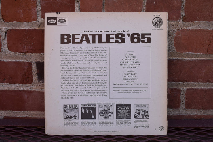 The Beatles, '65, Vintage Vinyl album, lp record classic rock, 70's music