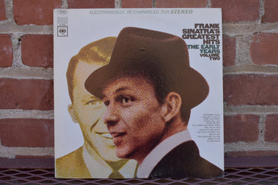 Frank Sinatra, Greatest Hits, the Early years. vintage vinyl, record, classic, jazz, singer album