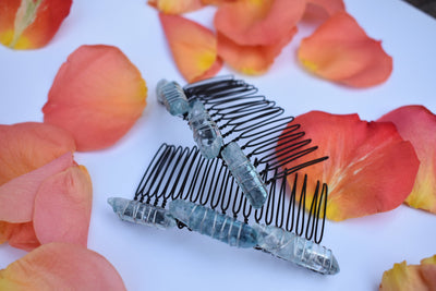 crystal beaded hair combs