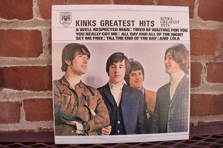 The Kinks; Greatest Hits, Canadian Vintage Vinyl album, 1971  lp record classic rock, British rock music