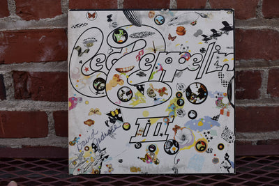 Led Zeppelin, III, Pin Wheel, Vintage 1975 reissue,  vinyl Lp, full album vintage record, Classic Rocks