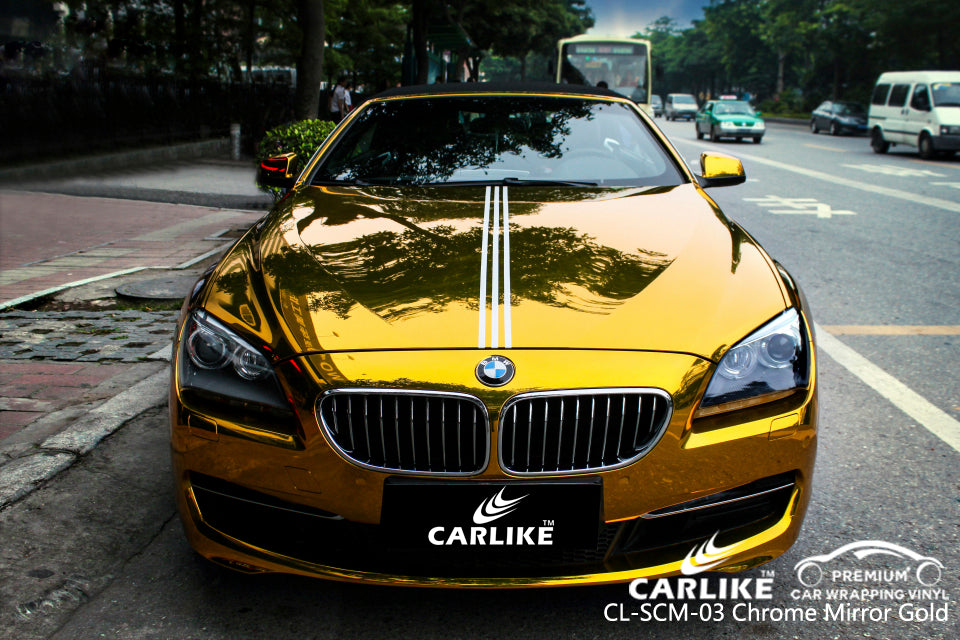 CARLIKE CL-SCM-03 CHROME MIRROR GOLD VINYL