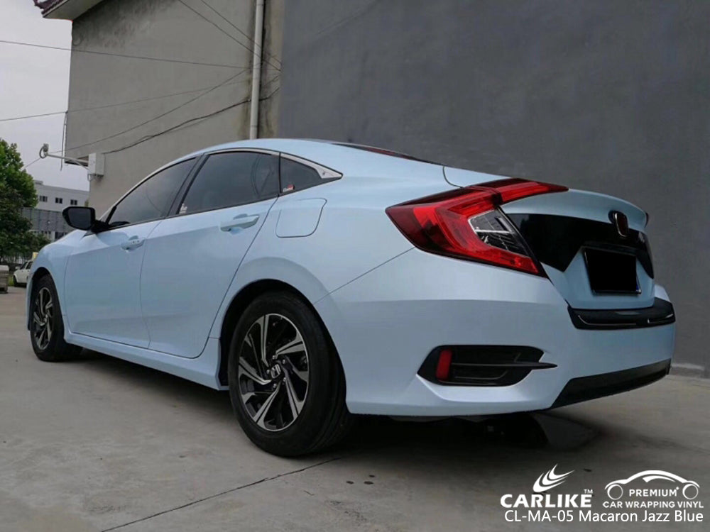 CARLIKE CL-MA-05 MACARON JAZZ BLUE VINYL On Honda