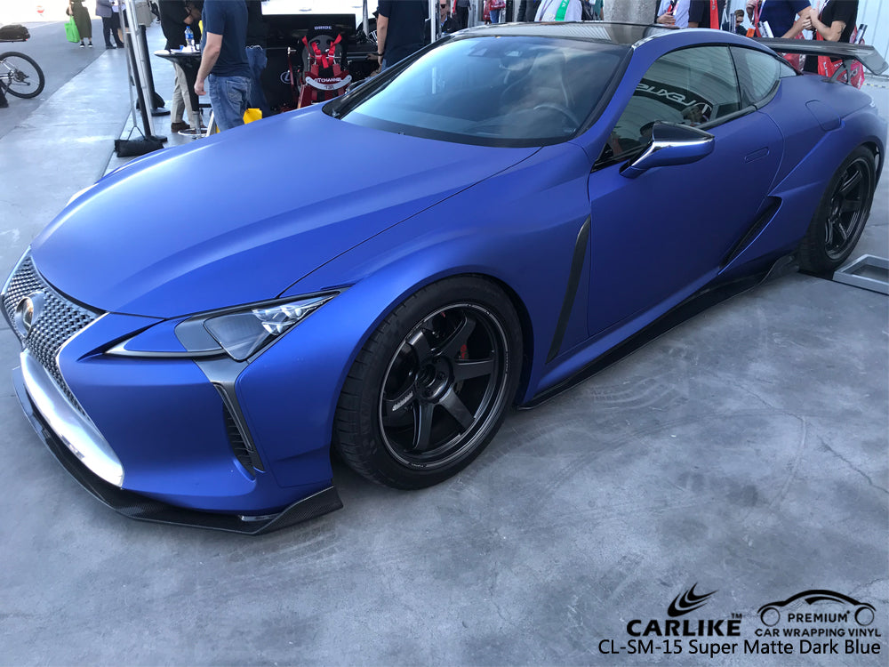 CARLIKE CL-SM-15 SUPER MATTE DARK BLUE VINYL On LEXUS