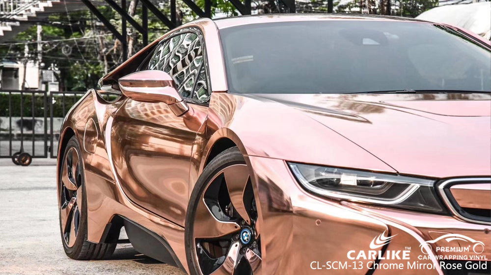 CARLIKE CL-SCM-13 CHROME MIRROR ROSE GOLD VINYL