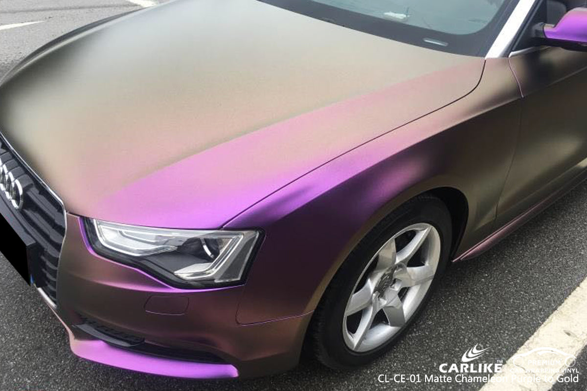 CARLIKE CL-CE-01 CHAMELEON ELECTRO METALLIC PURPLE TO GOLD VINYL
