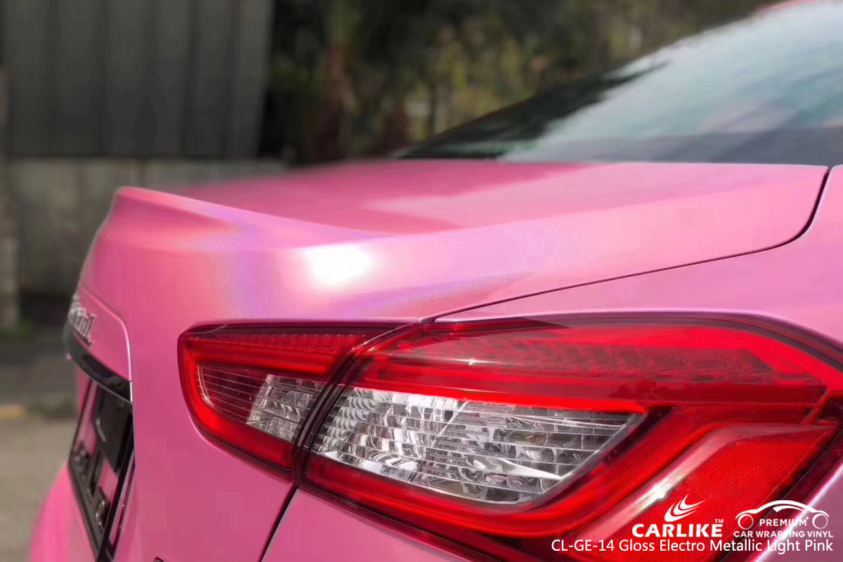 CARLIKE CL-GE-14 GLOSS ELECTRO METALLIC LIGHT PINK VINYL