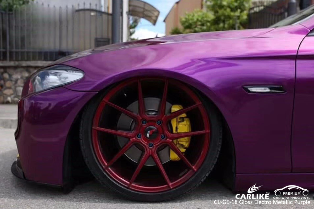 CARLIKE CL-GE-18 GLOSS ELECTRO METALLIC PURPLE VINYL WRAP BMW