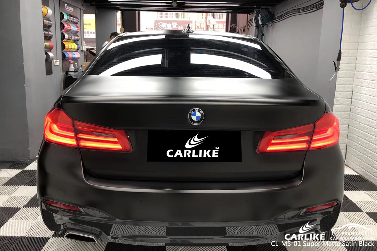 CARLIKE CL-MS-01 SUPER MATTE SATIN BLACK VINYL WRAP BMW