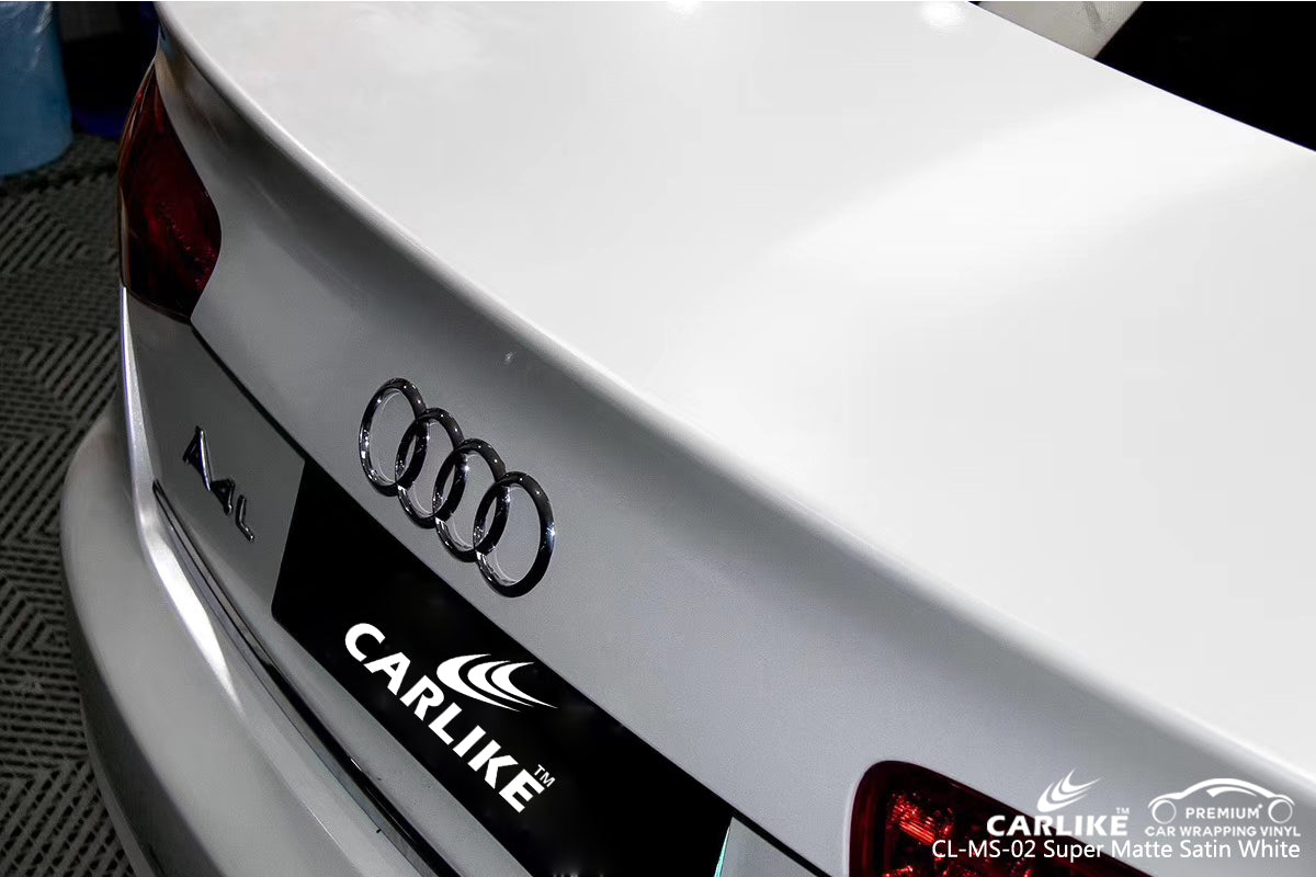 CARLIKE CL-MS-02 SUPER MATTE SATIN WHITE VINYL