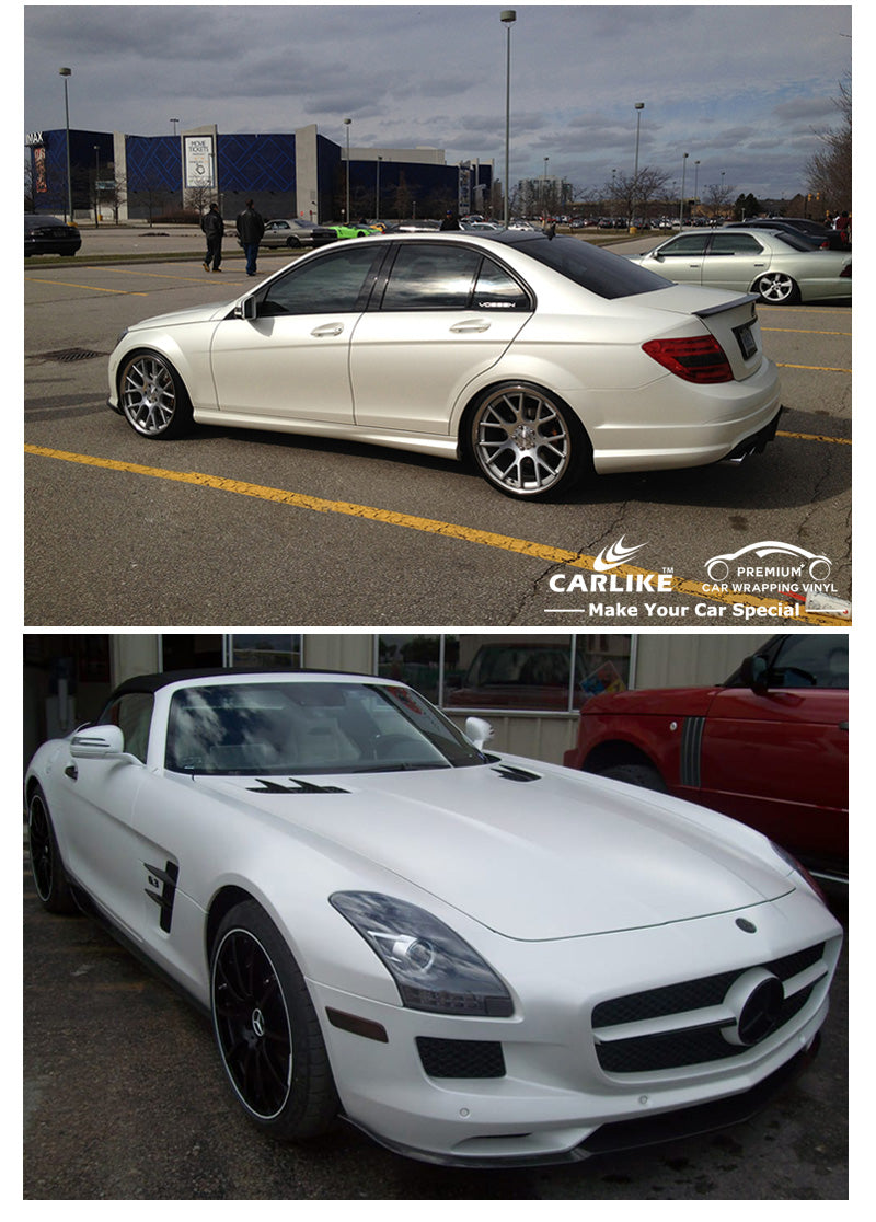 CARLIKE CL-PW Pearlescent White Pearl Car Body Wrap Vinyl