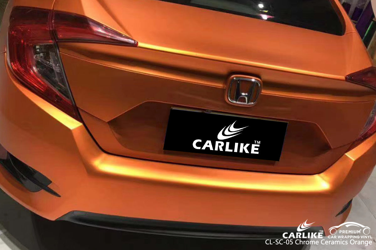CARLIKE CL-SC-05 CHROME CERAMICS ORANGE VINYL