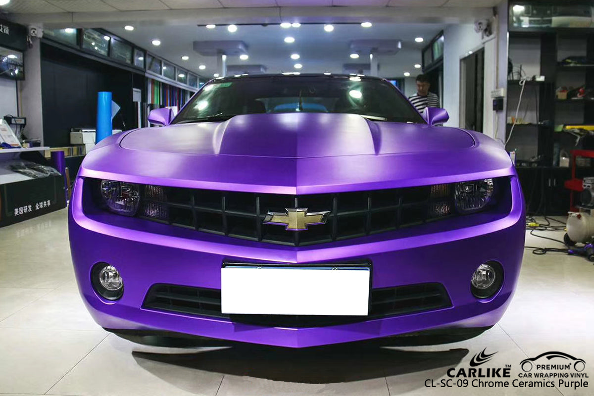 CARLIKE CL-SC-09 CHROME CERAMICS PURPLE VINYL