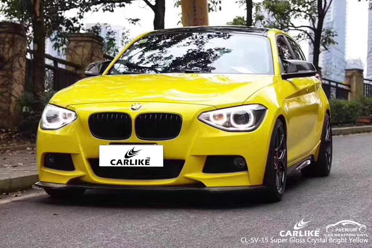 CARLIKE CL-SV-15 SUPER GLOSS CRYSTAL BRIGHT YELLOW VINYL
