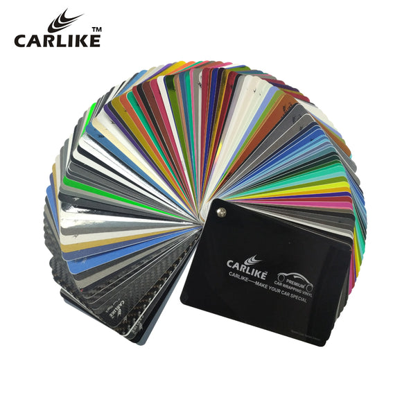 100+ Colors CARLIKE Premium+ Car Wrapping Vinyl New Samples Swatch