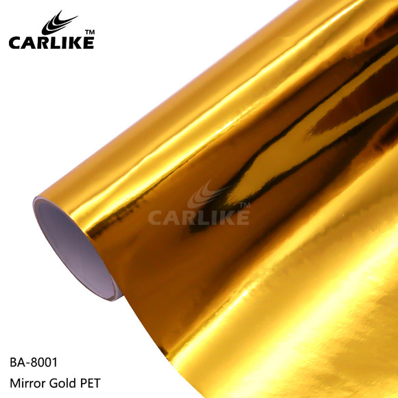 CARLIKE BA-8001 Chrome Metallic Mirror Gold PET Cricut Cutting DIY Craft Vinyl