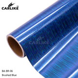 CARLIKE BA-BR-06 Holographic Brushed Blue Cricut Cutting DIY Craft Vinyl