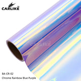 CARLIKE BA-CR-02 Chrome Rainbow Blue Purple Cricut Cutting DIY Craft Vinyl