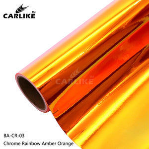 CARLIKE BA-CR-03 Chrome Rainbow Amber Orange Cricut Cutting DIY Craft Vinyl