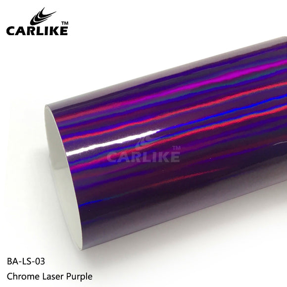 CARLIKE BA-LS-03 Chrome Laser Purple Cricut Cutting DIY Craft Vinyl