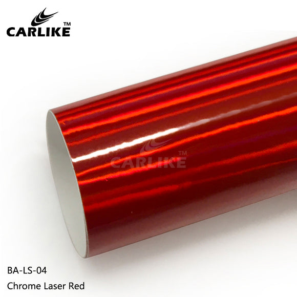 CARLIKE BA-LS-04 Chrome Laser Red Cricut Cutting DIY Craft Vinyl