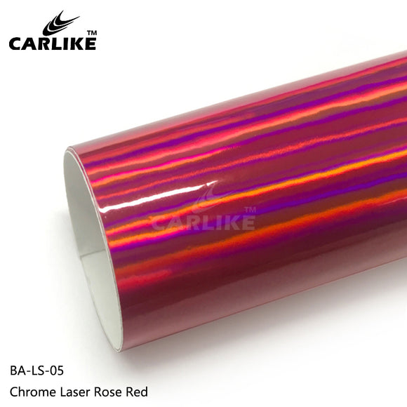 CARLIKE BA-LS-05 Chrome Laser Rose Red Cricut Cutting DIY Craft Vinyl
