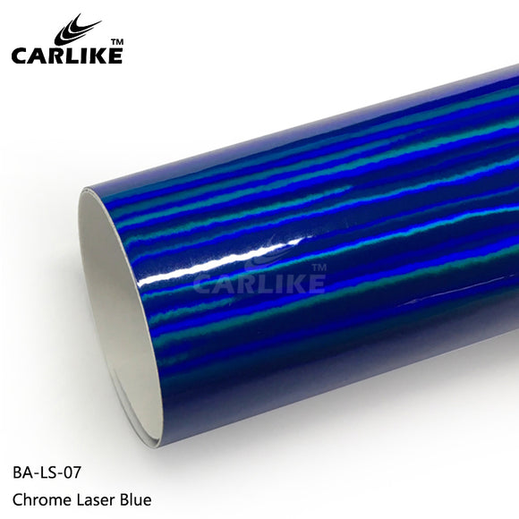 CARLIKE BA-LS-07 Chrome Laser Blue Cricut Cutting DIY Craft Vinyl
