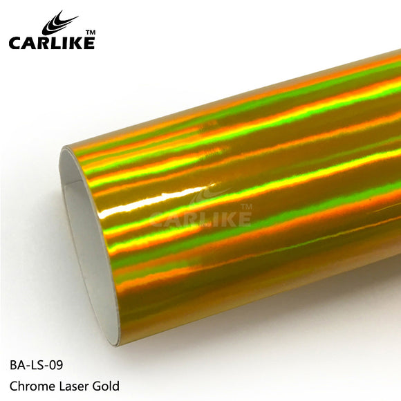 CARLIKE BA-LS-09 Chrome Laser Gold Cricut Cutting DIY Craft Vinyl