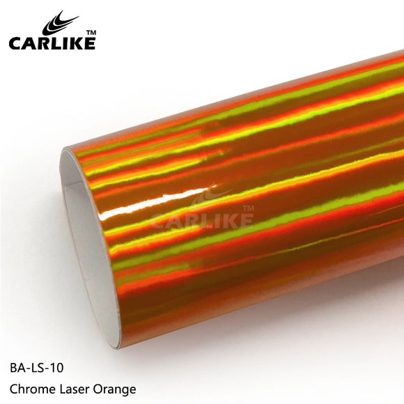 CARLIKE BA-LS-10 Chrome Laser Orange Cricut Cutting DIY Craft Vinyl